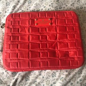 NWOT Kate Spade Orange Quilted Tablet Sleeve
